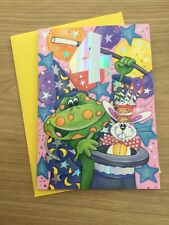 Happy 4th 4 Today Birthday Greeting Card With Frog Magician Hat Design (280)