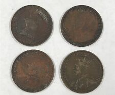Canada Large Cent Lot of 4 1914 1910 1912 1920