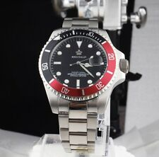 U.K. Red / Black Reginald Quartz Stainless Steel Sports Divers Watch