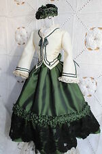 """Beautiful dress  for antique French fashion doll 16''.(1860""""s)"""