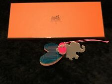 "HERMES petit h Bag Charms - Crocodile ""apple"", Wing, Elephant - Set of 3"