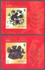 Jersey-Year of the Monkey + Year of the Rooster min sheets mnh 2016/7