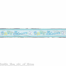 BLUE STITCHING Baby Shower Party Banners Decorations 12ft FOIL BANNER
