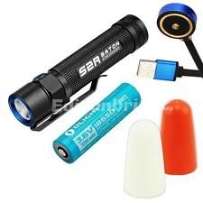Olight S2R 1020 Lumens magnetic rechargeable LED Flashlight w/ 2 X traffic wands