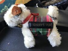 VINTAGE GINNY STEIFF DOG 1950's VOGUE DOLL MOHAIR FOX TERRIER PUP