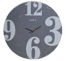 SPLOSH LOFT WALL CLOCK GREY HOME OFFICE WALL HANGER WALL PLAQUE