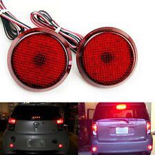 For Scion xB iQ Red Lens Bumper Reflector LED Tail Brake Stop Light Corolla