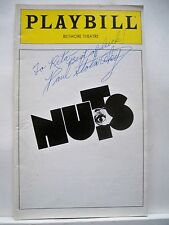 NUTS Playbill PAUL STOLARSKY Autographed  NYC 1980
