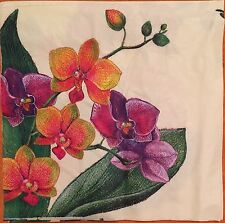 20 paper napkins decoupage scrapbooking collection Serviette Flower Orchid