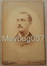 Antique vintage Cabinet Card Photograph Identified Man Springfield, Ohio Myers