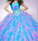 New Ball Gown Organza Quinceanera/Party/Prom Dresses Stock Size4+6+8+10+12+16