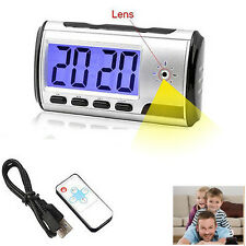 HD Camera Alarm Clock Digital Video Recorder Hidden Nanny Cam Motion Detect DVR