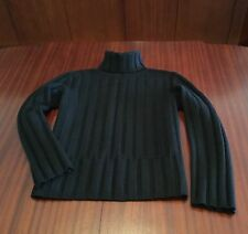 HUGO BOSS 100% Extra Fine Merino Wool Turtleneck Jumper Sweater Black Men's M