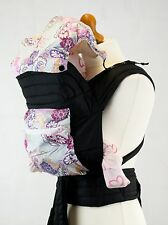 Mei Tai Baby Sling Carrier With Hood And Pocket - Purple Paisley