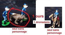 DECOTOYS Tuniques bleues 1 ours et 1 dromadaire sans les personnages ( LAMBIL)