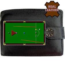 Snooker Mesa bolas de Cue para hombre Negro Cuero Billetera Novedad Regalo de imagen piscina Sport