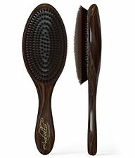 100% Natural Boar Bristle Hair Styling Brush -Classic Looking, Oval Shaped, NEW