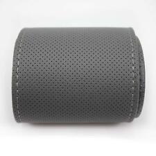 38cm Gray Car Steering Wheel Protective PU Leather Cover Anti-slip Wrap Grip Hot