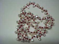 NEW QVC VINTAGE KEISHI PEARL AND SEA BAMBOO NECKLACE 90CM ENDLESS NECKLACE