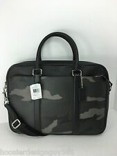 COACH F71814 Slim Brief Tote Crossbody Bag Men's Coated Canvas Camo NWT