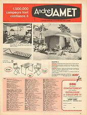 Publicité 1965  André Jamet  tente camping paiotte 4
