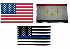 3x5 USA & New Orleans Louisiana & USA Police Blue Line Flag Wholesale Set 3'x5'