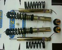 VW Golf MK 4 Gaz adjustable coilover kit with new rubber top mounts and bearings
