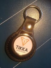 TIKKA SPORTING GUNS:  LEATHER KEY RING  &  FREE TIKKA GUNS STICKER
