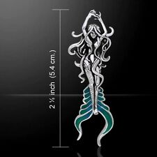 Atlantis MERMAID Pendant .925 Sterling Silver Magickal Mermaid Fantasy pendant
