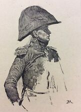 Ernest Meissonier Officier gravé Charles Louis KRATKÉ 1848-1921 Révolution 1893