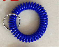 Spiral Wrist Coil Key Chains / New in Sealed Bag / Free shipping Dark blue A12