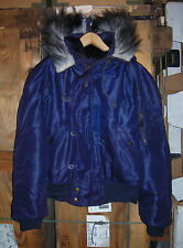 GENUINE USAF 1950s TYPE N-2A JACKET FLYING HEAVY ATTACHED HOOD EX COND !!! LARGE