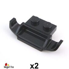 LEGO Plate 1X2 with Racer Grille / Spoiler / Ski (Pack of 2) NEW 50949 Black