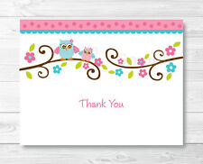 Pink Owl Thank You Card Printable