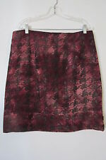 Ou Empereur Ou Rien Montreal Brick Red Button Slit Kneelength Skirt NWOT SIZE:11