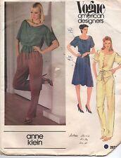 Anne Klein Vogue Sewing Pattern Misses' Jumpsuit or Dress 2671 Size 10 Uncut