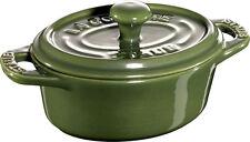Staub Ceramica 6 pz. Set Mini Cocotte ovale verde basilico 11cm Piatto da forno