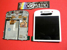KIT DISPLAY LCD +TOUCH SCREEN per BLACKBERRY Q10 4G VETRO VETRINO COVER BIANCO