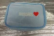 Gorgeous MOSCHINO LIGHT BLUE VELVET POUCH...ADORABLE....new!