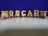 Wooden Train Letters Personalised Names as children CHRISTMAS Gifts