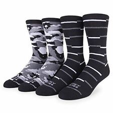 NWT FUNKY SOCKS 2-PACK MEN'S STORM TROOPER CAMO PATTERN BLACK / GRAY SIZE 10-13