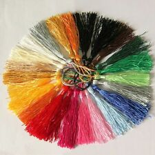 20Pcs Chinese Traditional Imitation Silk Drapery Trimmings Tassels Mixed Color