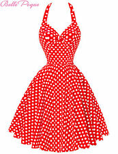 Housewife Vintage Retro Style 50s Polka Dots Swing Party Pinup Dress