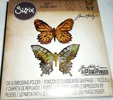 Sizzix Tim Holtz Alterations BIGZ Craft Die & Embossing Folder BUTTERFLY DUO