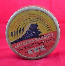 ANTIQUE GERMAN BOX AFTER ELECTRIC TOY TRAIN + PARTS
