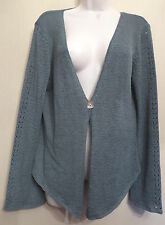 Principles UK16 EU44 US12 new green ribbon knit single button fasten cardigan