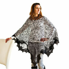 Bat Wing Go Batty Lace Popover Poncho - Spooky Cute Halloween Costume One Size