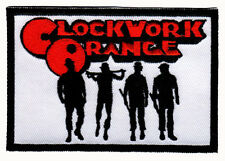 CLOCKWORK ORANGE EMBROIDERED IRON ON PATCH alex & droogs silhouette sci fi