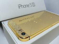 CUSTOM 24k GOLD Swarovski iPhone 5s - 64GB - (Unlocked) w/box & accessories