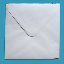 50 X SQUARE WHITE ENVELOPES - 130mm X 130mm